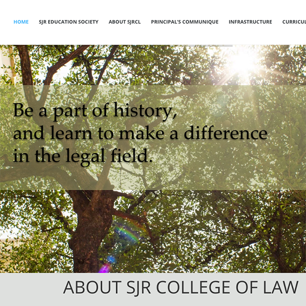 SJR College of Law Website Design